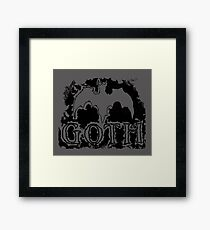 goth bat Framed Print