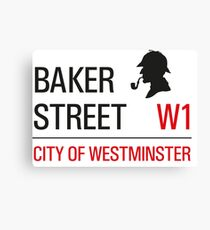 Sherlock Holmes Baker Street W1 sign Canvas Print