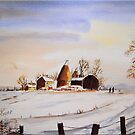 Oast Houses in the Winter by FrancesArt