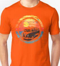 VW / Volkswagen Kombi Sunset Design T-Shirt