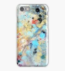 One White Quail Feather - Rain Painting iPhone Case/Skin