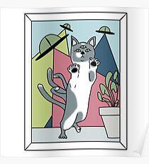 Needy Alien Cats Poster