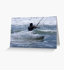Kitesurfing in the Ocean - Coming Back to Shore Greeting Card