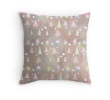 Wintertime is coming - soft and frosty Throw Pillow