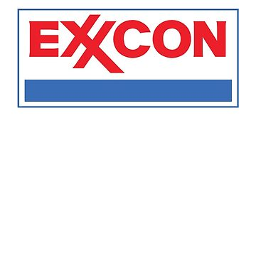 EXXCON Tshirt. Exxon Mobil redesigned. 90s Throwback by tinyrobot