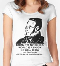 WORLD IS A SPOOK Women's Fitted Scoop T-Shirt