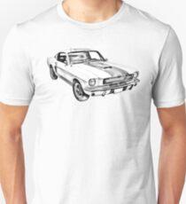 1965 GT350 Mustang Muscle Car Illustration Unisex T-Shirt