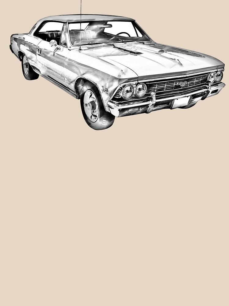 1966 Chevy Chevelle SS 396 Illustration de KWJphotoart