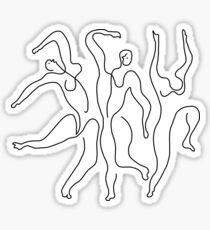 Picasso's The Three Dancers Sticker