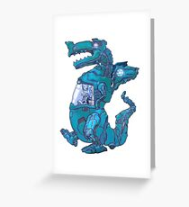 Mecha Dragon X Greeting Card