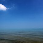 Lake Huron with One Cloud by marybedy