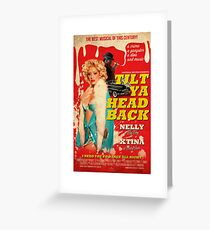 Tilt Ya Head Back - Christina Aguilera & Nelly Greeting Card