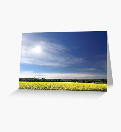 Sun Halo Over Canola Field Greeting Card