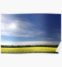 Sun Halo Over Canola Field Poster