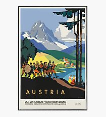 Vintage Austria Alps Travel Photographic Print