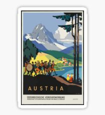 Vintage Austria Alps Travel Sticker