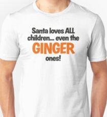 Santa Loves Ginger Children fun Christmas design T-Shirt