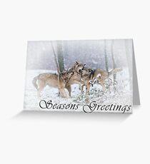 Timber Wolf Seasons Card - 14 Greeting Card