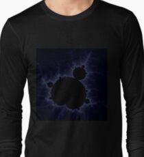 Fractal Light - Blue Mandelbrot Long Sleeve T-Shirt