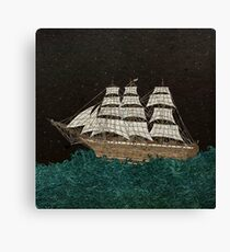 Tall Ship At Sea Canvas Print