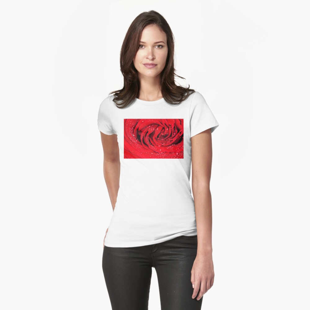 Sparkling Rose Womens T-Shirt Front