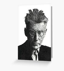 Samuel Beckett - Irish Author Greeting Card