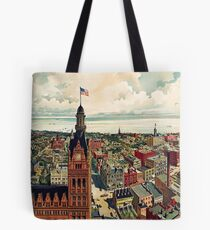 Vintage Pictorial Map of Milwaukee WI (1898) Tote Bag
