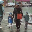 Rainy Streetcorner by dbclemons