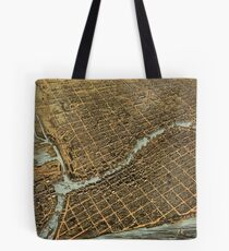 Vintage Pictorial Map of Milwaukee (1872) Tote Bag