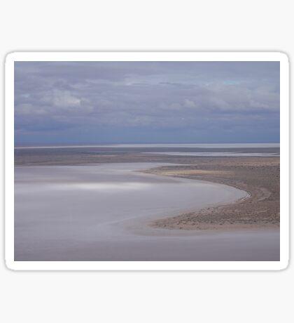 Beaut Beach at Lovely Lake Eyre Sticker