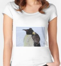 Molting Emperor Penguin Women's Fitted Scoop T-Shirt
