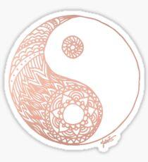 Rose Gold Yin Yang Sticker