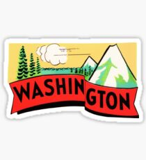 Washington WA State Vintage Travel Decal Sticker