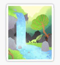 Lehti at the waterfall Sticker