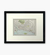 Vintage Map of Montreal (1901) Framed Print