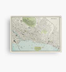 Vintage Map of Montreal (1901) Metal Print