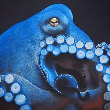 Octopus of Blue by YasminChambers