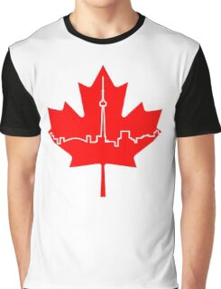 Maple Leaf Skyline - Canada Graphic T-Shirt