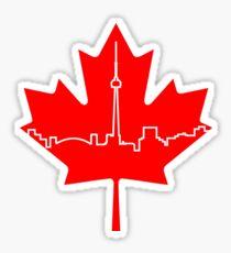 Maple Leaf Skyline - Canada Sticker