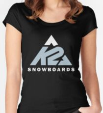 k2 snowboards apparel Women's Fitted Scoop T-Shirt
