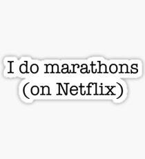 Ich mache Marathons Sticker