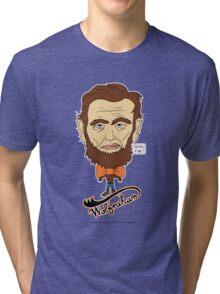 Wolfraham Lincoln Tri-blend T-Shirt