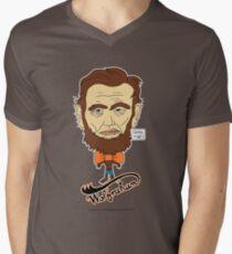 Wolfraham Lincoln Men's V-Neck T-Shirt