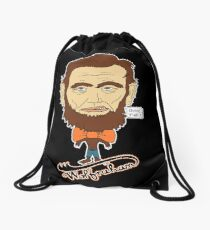 Wolfraham Lincoln Drawstring Bag