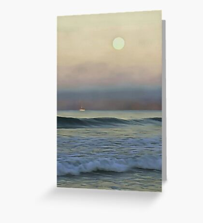 Pale Sunset Greeting Card