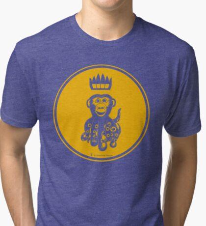 Octochimp - single colour Tri-blend T-Shirt