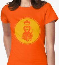 Octochimp - single colour Womens Fitted T-Shirt