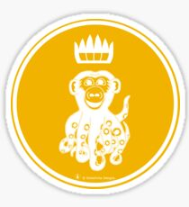 Octochimp - single colour Sticker