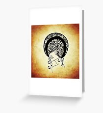 abstract afro Greeting Card