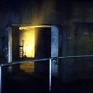 Battery Mishler Gun Emplacement exit, ladders by Dawna Morton